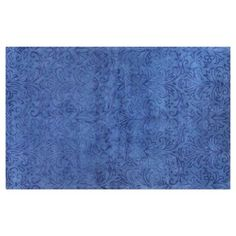 Check out this item at One Kings Lane! Damask Rug, Blue