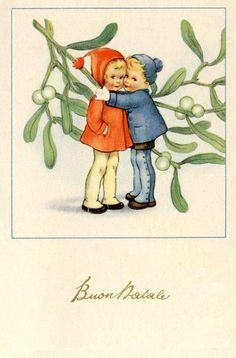 Vintage Italian Christmas Postcard Complete set of 6 postcards PC Circa 1930…