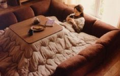 I seriously need a room for a kotatsu in my house someday.