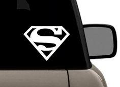 Superman Logo Vinyl decal Superman Logo, Volkswagen Logo, Star Trek, Golf Clubs, Vinyl Decals, Darth Vader, Logos, Stars, Starship Enterprise