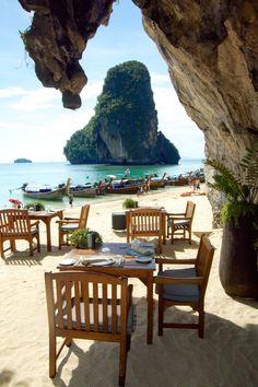 The Grotto Restaurant Phra Nang Beach.