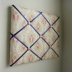 Gold and Red Medallion 16x20 Memory Board Bow by MemoriestoYou, $68.00