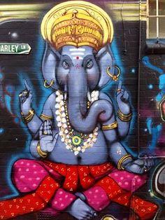 On a wall in Newtown, NSW, Australia.