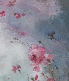 Dusk Original Roses Canvas Painting by Debi Coules - Debi Coules Romantic Art