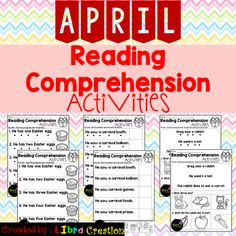 """Each monthly set comes in three formats. 5 pages of Reading Fluency, 5 pages of Reading fluency check cut and paste, and 10 pages of Reading Comprehension will suit the needs of your students. I have provided a copy of all those 20 pages without the """"dots"""" for tracking. These activities work well for a small group practice, fluency practice, class discussions, homework, and for assessment use. Reading Comprehension Activities, Reading Fluency, Whatsapp Spy, 1st Grade Activities, Fluency Practice, Teaching First Grade, Free Education, Readers Workshop, Kindergarten Centers"""