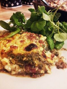 """(Original recipe here) It's a perfect combination. Reminding me irresistibly of a friend's own Cannelloni recipe he dubbed """"Angel Shit"""" (on account of it being so good it's like. Cannelloni Recipes, Feta Pasta, Spinach And Feta, Original Recipe, My Recipes, Veggies, Chicken, Meat, Plants"""