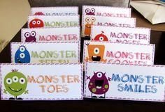Monster Food tags