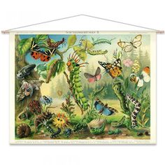 An poster sized print, approx mm) (other products available) - Insects protection devices lithograph - Image supplied by Fine Art Storehouse - poster sized print mm) made in the UK Framed Art, Framed Prints, Canvas Prints, Painting Prints, Fine Art Prints, Puzzles, Forest Painting, Butterfly Wall, Photographic Prints