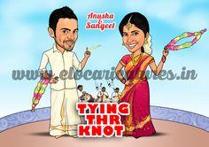Indian Wedding Caricature!