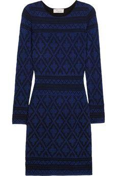 Temperley London Willow paneled wool-blend dress   NET-A-PORTER
