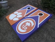 Clemson Cornhole Boards...Love the Clemson Ring design!