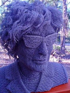 grillage, sculpture, Bob Dylan