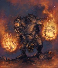 Pyre Troll by Matt Dixon