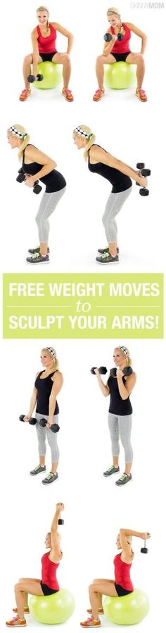Sculpt your arms with 17 free weight moves. Grab those dumbbells! by MyohoDane