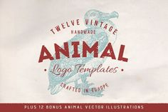 Graphic Design - Graphic Design Ideas  - Vintage Animal Logos + Bonus Vectors by Greta Ivy on Creative Market   Graphic Design Ideas :     – Picture :     – Description  Vintage Animal Logos + Bonus Vectors by Greta Ivy on Creative Market  -Read More –
