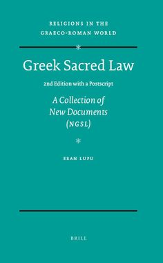 Greek Sacred Law (2nd Edition with a Postscript)