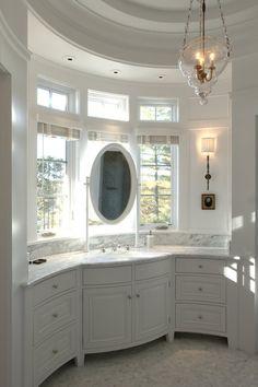 TEA2 Architects - bathrooms - round bathroom, curved bathroom, tray ceiling, round tray ceiling, bathroom ceiling, bathroom tray ceiling, cu...