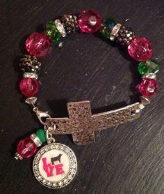 Stockshow FFA/4H Love Heifer Cross Bracelet by sassygirlsx3, $10.95