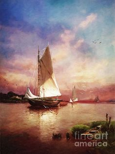 Magnificent digital interpretation/recreation of this painting, Lianne! Beautiful colors and light! Fantastic artistic special effects! What a wonderful tribute to original artist Alfred Thompson Bricher!