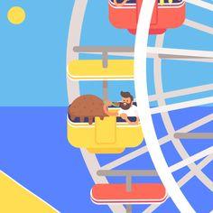 LA Gifathon Day 9 Ice cream and ferris wheels on Santa Monica Pier | James Curran