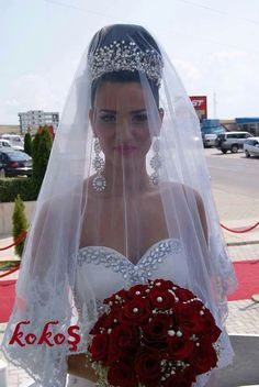 Wedding veil shot.