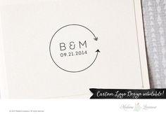 SALE Premade Wedding Monogram Logo Save the Date Wedding Logo Design Monogram