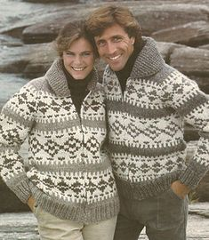 Knit Siwash Sweater Pattern, Cardigan, Pullover and Bomber Jackets, White Buffalo Book 2 from MagpieQuilts on Etsy Studio Cowichan Sweater, Zip Sweater, Wool Cardigan, Men Cardigan, Vest, Sweater Knitting Patterns, Cardigan Pattern, Knitting Designs, Canadian Clothing