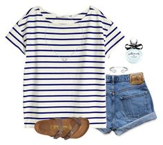 **** Try out Stitch Fix today! Classic navy stripe tee, cuffed jean shorts and Birkenstocks.  Love the simplicity, but super cute style.  Stitch Fix Spring, Stitch Fix Summer, Stitch Fix Fall 2016 2017. Stitch Fix Spring Summer Fall Fashion. #StitchFix #Affiliate #StitchFixInfluencer