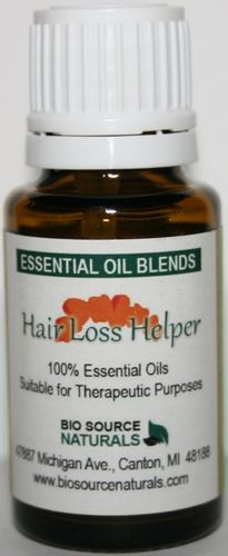 Hair Loss can be helped by essential oils which help circulation, cleanse the scalp to encourage follicle growth and balance hormones. Our Hair Loss Helper Essential Oil Blend contains Rosemary, Lavender, Cedarwood, and Thyme, which do it all. #aromatherapy
