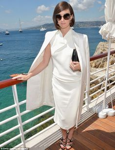 Looking a bit of all white! Paz Vega also wowed as she arrived at the bash
