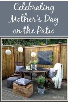 Lots of creative ideas for setting up and celebrating Mother's Day outdoors.