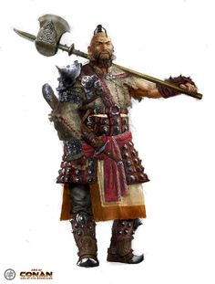 Hyrkanian Raider concept art from the video game Age of Conan: Unchained by Ville-Valtteri Kinnunen