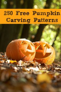 Free Pumpkin Carving Patterns {Over 250 Patterns}