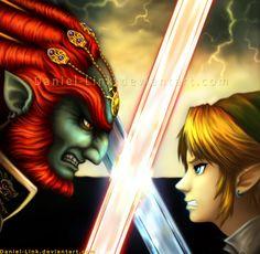 The Legend of Zelda: Twilight Princess, Link and Ganondorf / Final Battle by Daniel-Link on deviantART