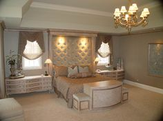 Bedroom Photos Uphostered Headboards Design Ideas, Pictures, Remodel, and Decor - page 8