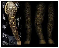 Celtic sleeve tattooed by shepush.deviantart.com on @deviantART