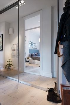 Layout, Scandinavian Style, Ideal Home, Oversized Mirror, Modern, Entryway, Cozy, Retro, House