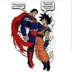 Superman have nerver heard of super saiyans. . . . . [#db][#dbz][#dbgt] [#dragonball] [#dragonballz] [#dragonballsuper] [#dragonballgt][#dbsuper] [#Goku] [#songoku] [#gohan] [#songohan] [#goten] [#chichi] [#vegeta][#trunks] [#piccolo] [#bulma] [#beerus] [#whis] [#supersaiyan] [#krillin] [#kamehameha] [#kakarot][#manga] [#anime] [#frieza] [#otaku] [#blackgoku]