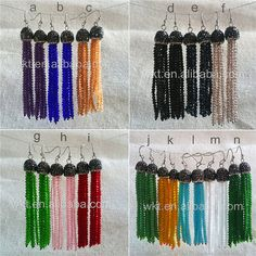 WT-E286 Elegant Christmas Gift Bead Tassel Earring For