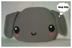 Large Plush Bunny Cushion by riaherod.deviantart.com on @deviantART