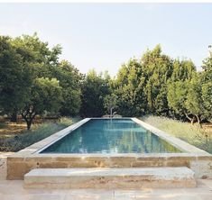 Swimming pool in the Puglia home of (Photo by - Women Trends Backyard Pool Designs, Swimming Pool Designs, Outdoor Spaces, Outdoor Living, Outdoor Decor, Raised Pools, Rome Apartment, Plunge Pool, Pool Houses