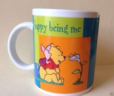 HH Disney's Winnie The Pooh Piglet Coffee Mug Happy Being Me Houston Harvest Cup