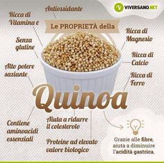 ✔ Benefici della Quinoa