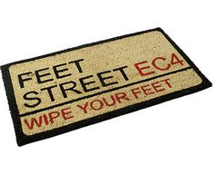 Original Gift Company Feet Street Doormat, Coir Encourage a thorough clean-up before entering with this fun contemporary doormat. On a PVC latex back, the mat has tough bristles of 100% natural coir to trap dirt and debris, while also absorbing moi http://www.MightGet.com/february-2017-2/original-gift-company-feet-street-doormat-coir.asp