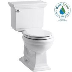 All baths- KOHLER Memoirs Stately 2-piece 1.28 GPF Round Toilet with AquaPiston Flushing Technology in White