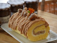 Cute and delicious chestnut roll cake