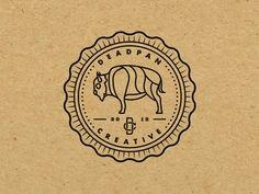 Well played // Ty Palmer on dribbble Typography Logo, Graphic Design Typography, Graphic Design Illustration, Logos, Logo Branding, Branding Design, Seal Design, Badge Design, Monogram Design
