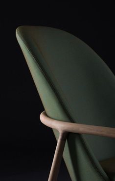 Moss green chair closeup