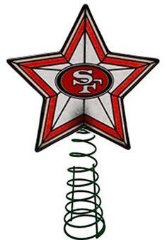 San Francisco 49ers Christmas Tree Topper, http://smile.amazon.com/dp/B00GSWY8S4/ref=cm_sw_r_pi_awdm_NqhFub0N9C5R1