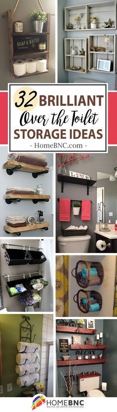 Over The Toilet Storage Decor Ideas
